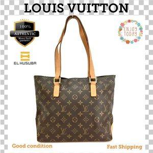 💯Louis Vuitton Shoulder bag Monogram Cabas Piano